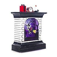 2019ハロウィンヴィンテージカボチャ暖炉LEDライトハンギングウィンドライトポータブルハンギングランタンハロウィンパーティー用品家の装飾B魔女ワンサイズ