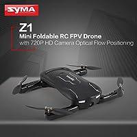 Ququack Syma Z1折りたたみ式RC FPVドローン、720P HDカメラオプティカルフローポジショニング