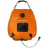 KingCamp ソーラーシャワー 20L 温度表示 軽量 ソーラー発熱 アウトドア 災害 キャンプ(オレンジ)