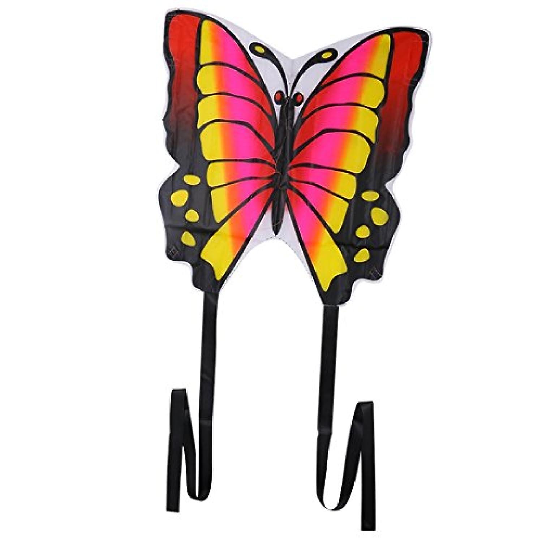 Techinal 35-inchバタフライカイトアウトドアスポーツギフトおもちゃ、Easy to Fly , The Best凧for Kids Children , Great初心者Kite with文字列テール