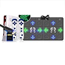 Non-slip Light Dancing Mat Double Dance Revolution Dancing Pad HDMI Interface 4K HD for TV and PC Built in Music Exercise Yoga Games (Color : Gray)