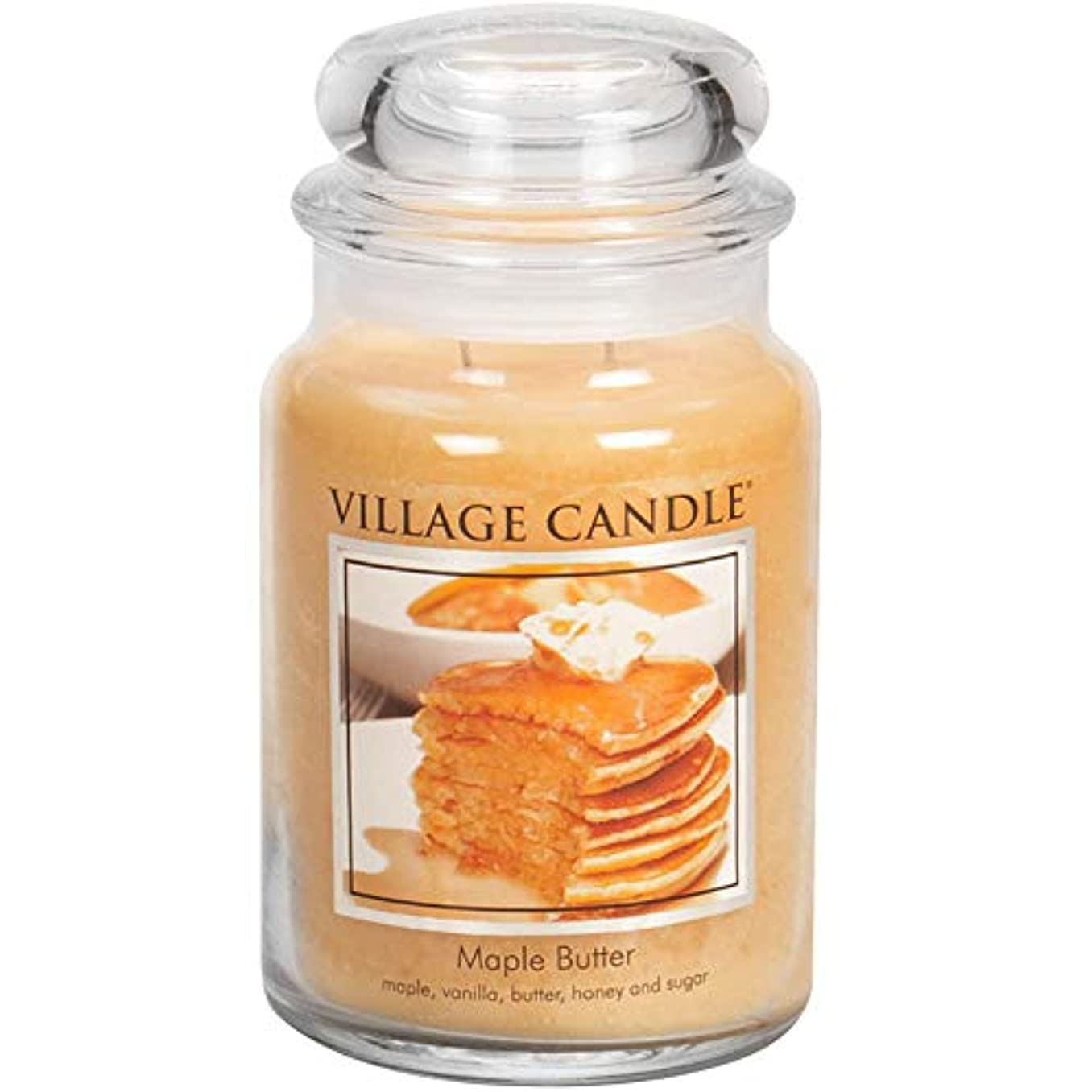 警察成功した小学生Village Candle Large Fragranced Candle Jar - 17cm x 10cm - 26oz (1219g)- Maple Butter - upto 170 hours burn time by Village Candle