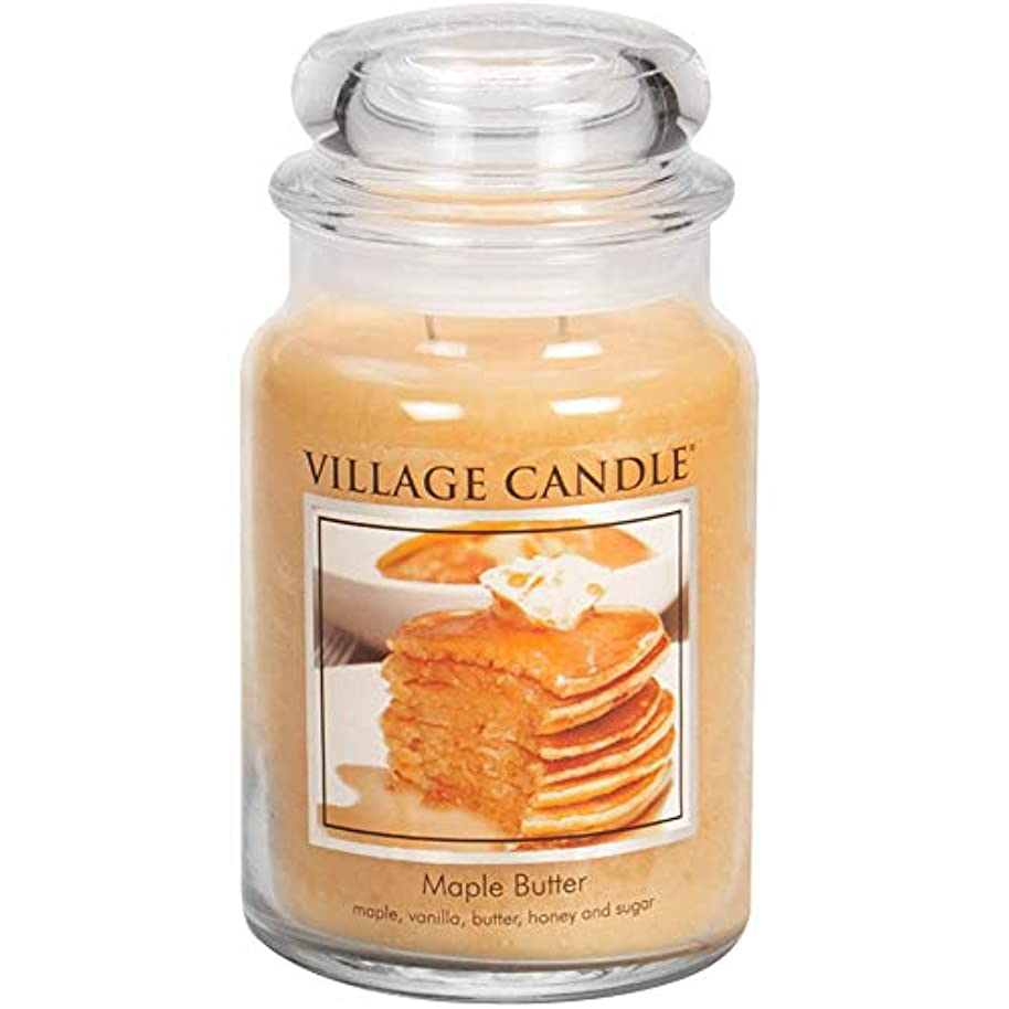 ブラウザピルファー抵抗力があるVillage Candle Large Fragranced Candle Jar - 17cm x 10cm - 26oz (1219g)- Maple Butter - upto 170 hours burn time...