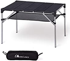 Moon Lence キャンプ テーブル アルミ ロールテーブル アウトドア ハイキング BBQ 折りたたみ式 コンパクト 超軽量