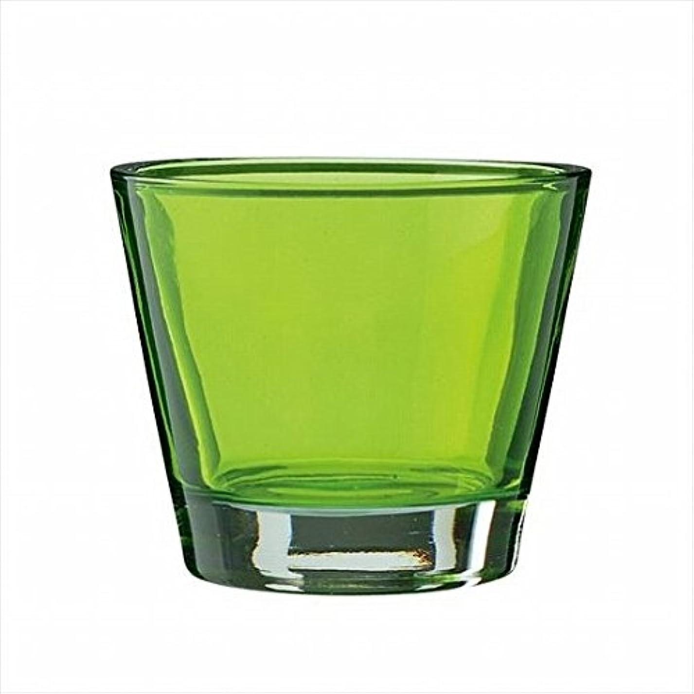 汚れる乏しい一時的kameyama candle(カメヤマキャンドル) カラリス 「 グリーン 」 キャンドル 82x82x70mm (J2540000G)