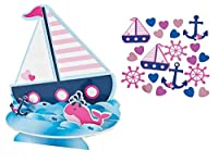 Nautical Table Decorations Centrepiece and Confetti - For Sailor Girl Baby Shower or Birthday Celebration