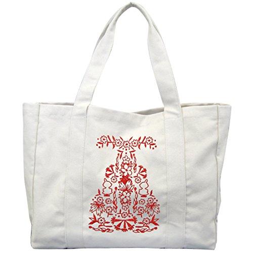 ムーミン リトルミイ キャンバス刺繍 トートバッグ 約40c...