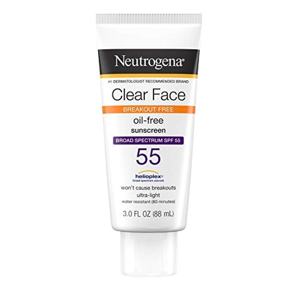 ブリリアント王室砂漠Neutrogena Clear Skin Sunscreen Lotion, SPF 55, 89 ml (並行輸入品)