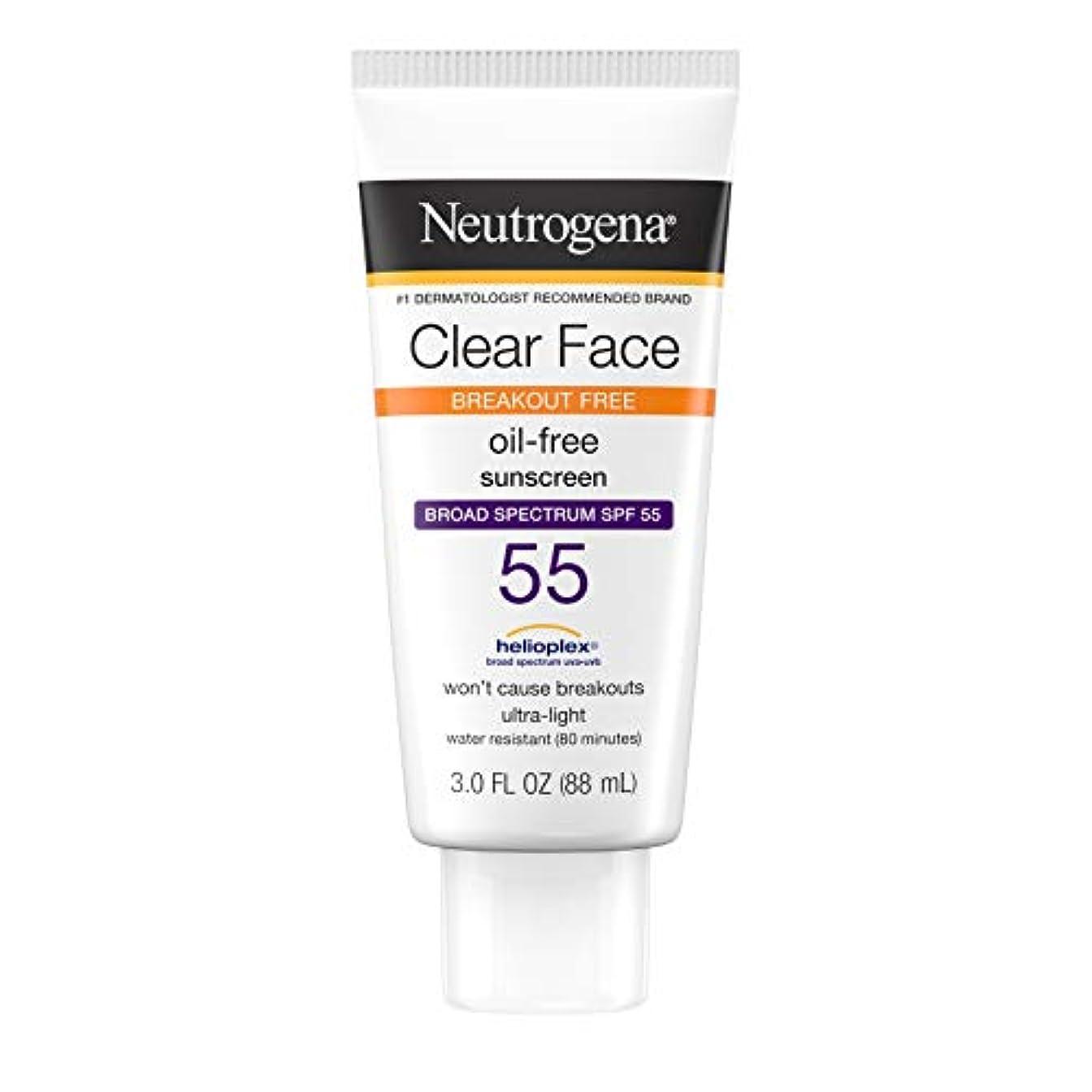 薄いですインタビューかもめNeutrogena Clear Skin Sunscreen Lotion, SPF 55, 89 ml (並行輸入品)