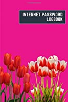 internet password logbook: 6x9 cute internet password book | cool internet password log book paper with page numbers | internet password logbook | internet password notebook journal paper | tulip nature plant flower magenta color
