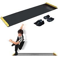 FIELDOOR スライドボード スライダーボード スライディングボード 幅180cm シューズカバー&ハンドカバー付き 幅調節可能 トレーニング ダイエット