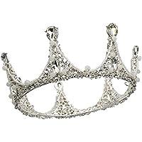 Tiara Silver Round Crown Headdress Birthday Wedding Accessories, Wedding Hair Accessories