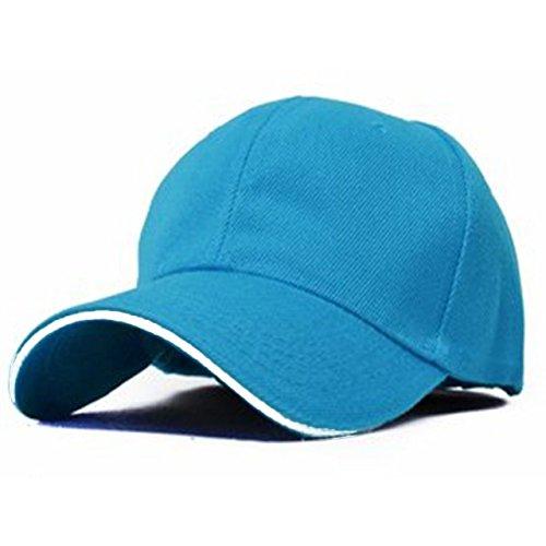 ONE LIMITATION(ワン リミテーション) ツバライン ベースボール 無地 キャップ 帽子 メンズ レディース (08.スカイブルー)