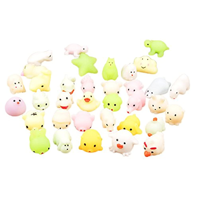 Squishies ジャンボ 低反発 子供用 Lovely Collection Toys かわいいかわいいモチの香り付き ストレス解消おもちゃ 4cm マルチカラー ILUCI