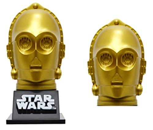 [해외]데스 (ides) star wars 스타 워즈 C-3PO 밸브 캡 자전거 액세서리 2 개들이/Ideas (ides) star wars Star Wars C-3PO Valve Cap Bicycle Accessories 2 pieces