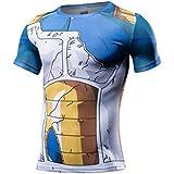 (EC-drive)サイヤ人 戦闘服 Tシャツ 3Dプリント おもしろ 着圧 スポーツ 吸汗速乾 コンプレッションウェア 戦闘服