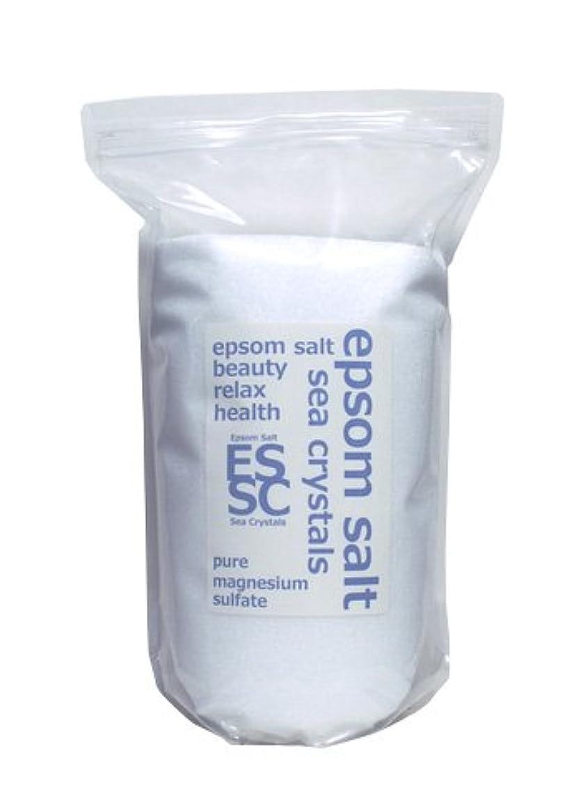要求するスケッチ近似入浴剤 シークリスタルス 国産 エプソムソルト (硫酸マグネシウム) 4㎏約26回分 浴用化粧品 計量スプーン付 無香料