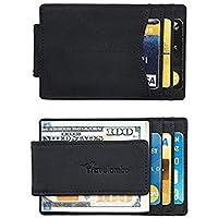 Travelambo Money Clip Front Pocket Wallet Slim Minimalist Wallet RFID Blocking (elite black)