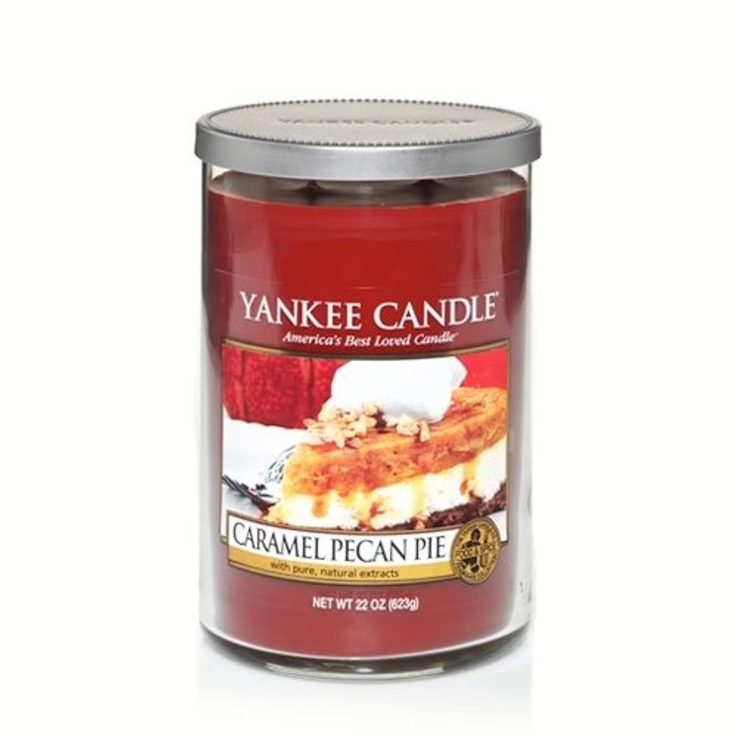 未就学彼のフェザーYankee Candle Caramel Pecan Pie , Food & Spice香り Large Tumbler Candles 1245593-YC