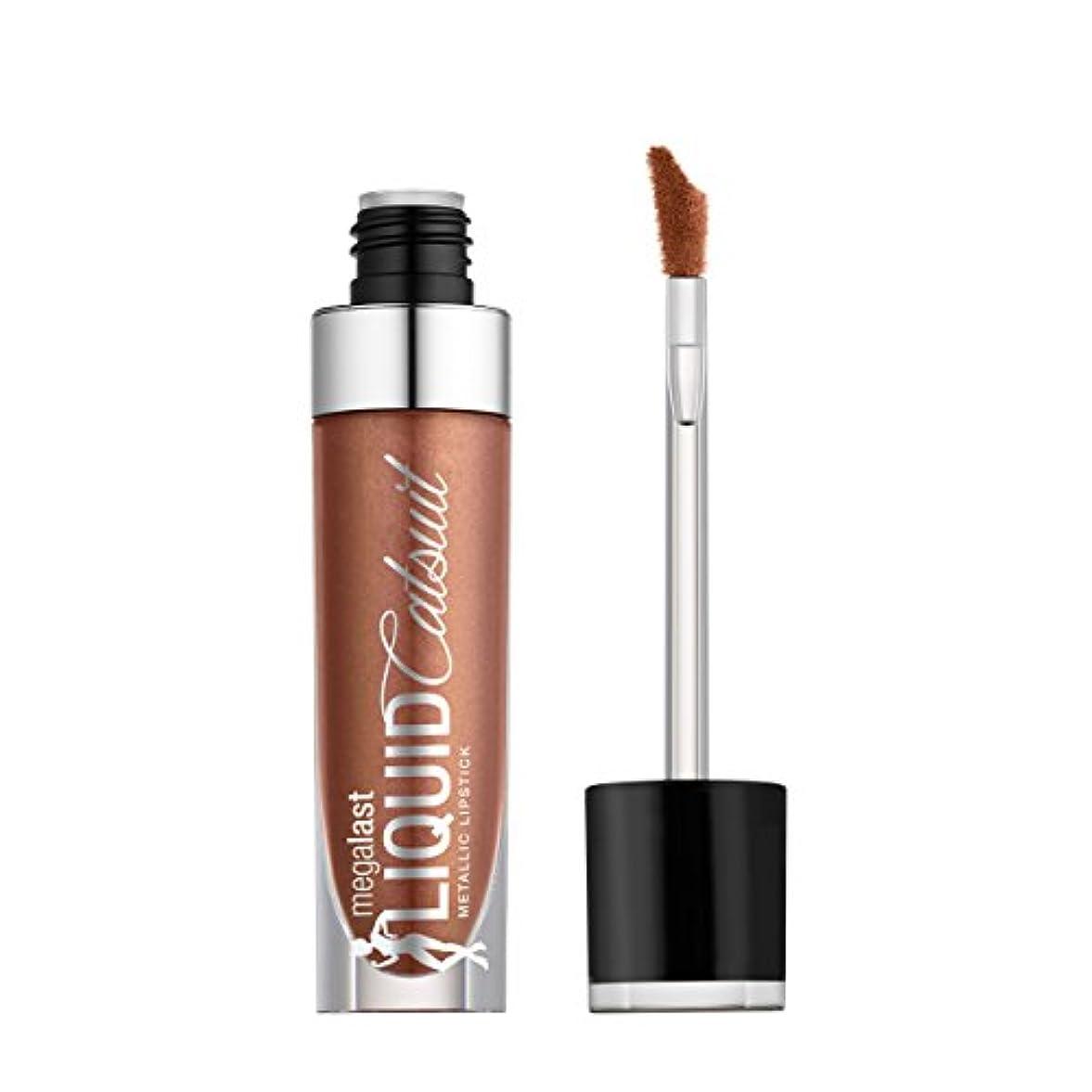 強調ピットの配列WET N WILD Megalast Liquid Catsuit Metallic Lipstick - Satin Sheets (並行輸入品)