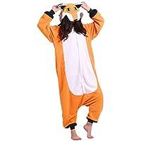 DarkCom Adult Animal Cosplay Costume Onesies Pajamas Christmas Carnival Party Apparel Fox