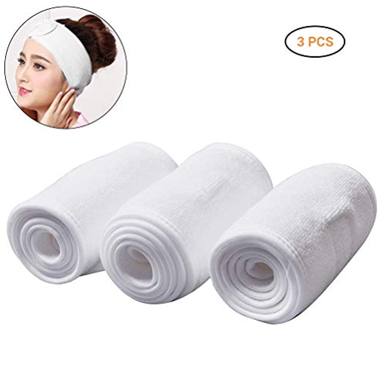 湿度有効のスコアBSTOPSEL 女性のための調節可能なヘアバンド顔洗浄スポーツ化粧ヘッドバンド