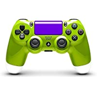 Metallic Light Green and Metallic White Custom Painted DualShock 4 by ColorWare [並行輸入品]