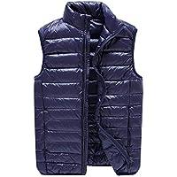 Fashion Vest Thickening Vest Big Size Men's Vest Winter Down Vest Outdoor Jacket 9 Sizes Thick (Color : Blue, Size : 3XL)