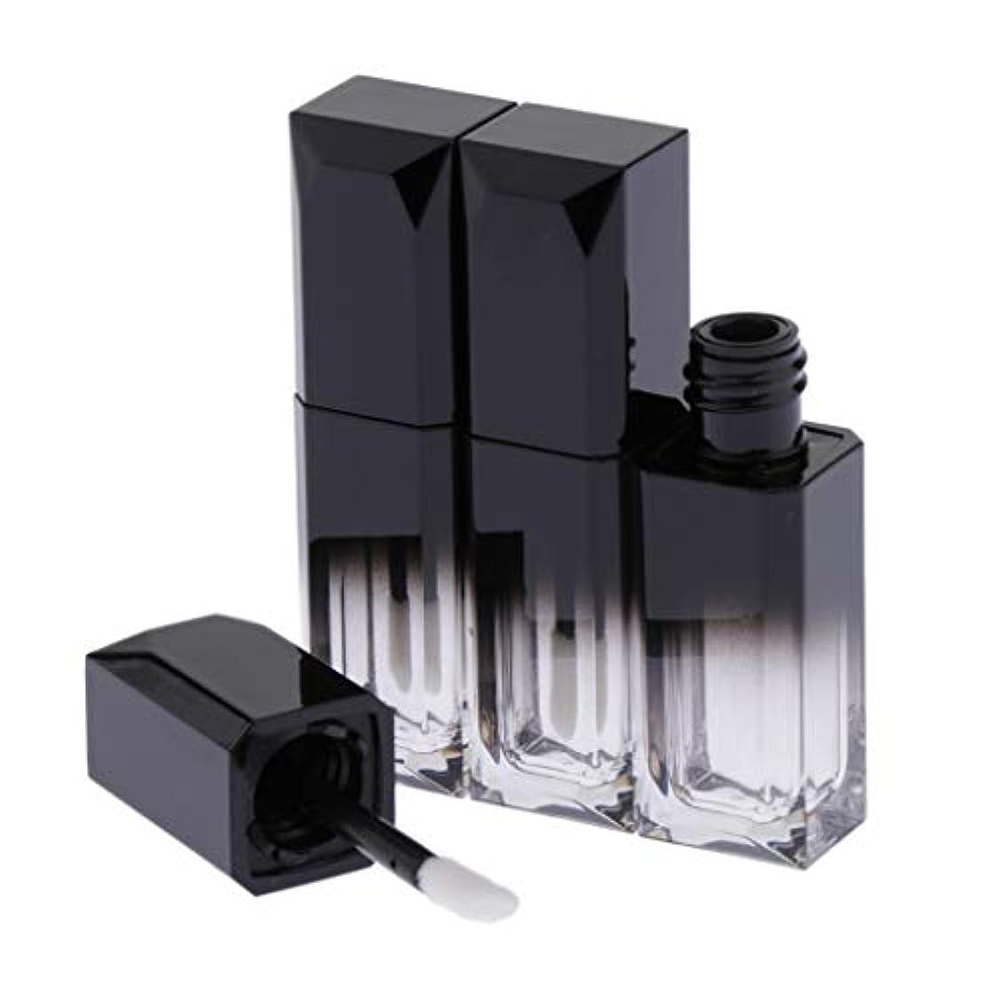 多数のチャンピオン疎外T TOOYFUL リップクリーム容器 チューブバームコンテナ 化粧品 全2カラー - ブラック