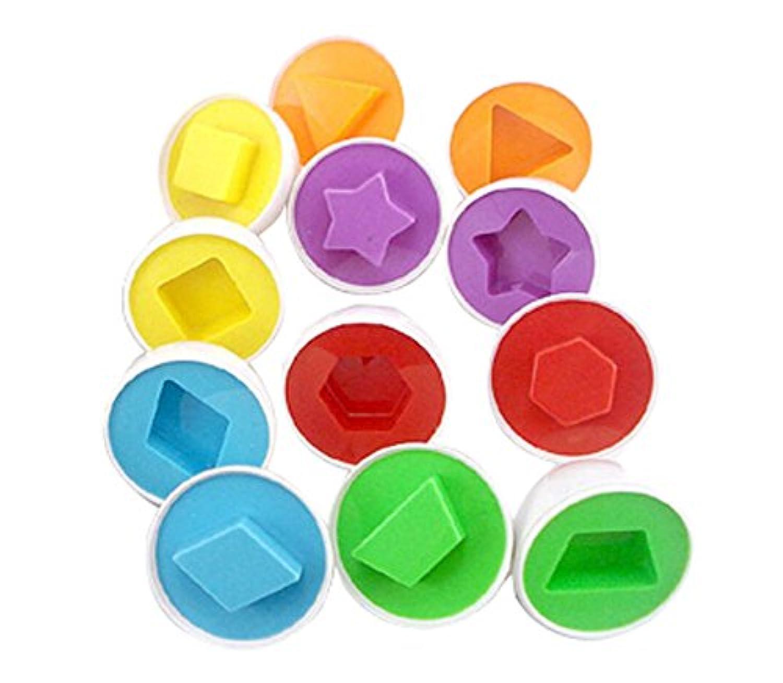 12のセットLovely Matching卵形状/カラーおもちゃ幼児子供おもちゃファンシーおもちゃ
