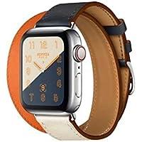 XHS Apple Watch4 バンド ベルト 44mm 交換ベルト 二重巻き型 レザー アップルウォッチ4 Apple Watch series4/3/2/1に対応