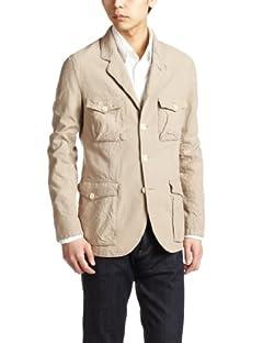 Herdmans Cotton Linen Dungaree Work Jacket 3225-186-1628: Beige
