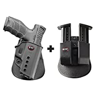 Fobus VPQパドル右利きスマートConceal concealed carryホルスターWalther PPQ 9mm、PPQ m29mm & .40Cal + 6909NDダブルマガジンポーチ