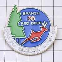 限定 レア ピンバッジ 赤い鹿カナダ在郷軍人会 ピンズ フランス
