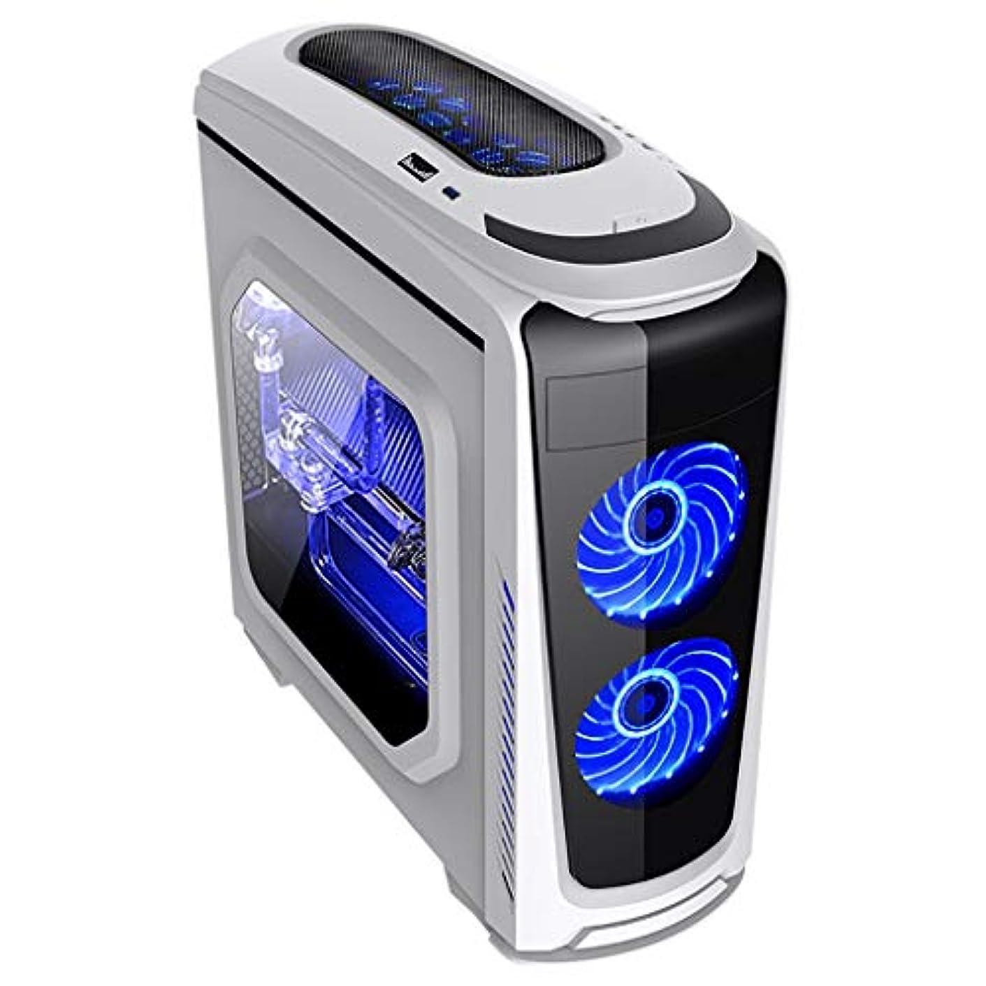 カウントアップきらめく特権XZ15 白いウィンドウのサイドパネルPCゲームシャーシ、ミッドタワー、ATX/M-ATX/Mini ITX、液体冷却とファンのサポート、ゲーマープロのデスクトップPC (Color : White)