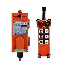 Hanchen ワイヤレスリモコン 18-65V 符号型 クレーンコントローラー 工業用 7つの機能ボタン 非常停止スイッチ付 IP65防水 ポータブル式 送・受信機同梱
