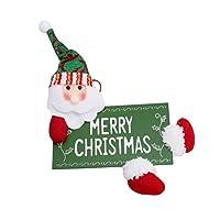 YUEHAO クリスマス インテリア小物 リース 壁掛け ドア飾り 庭園 飾り 玄関 クリスマスツリー ペンダント