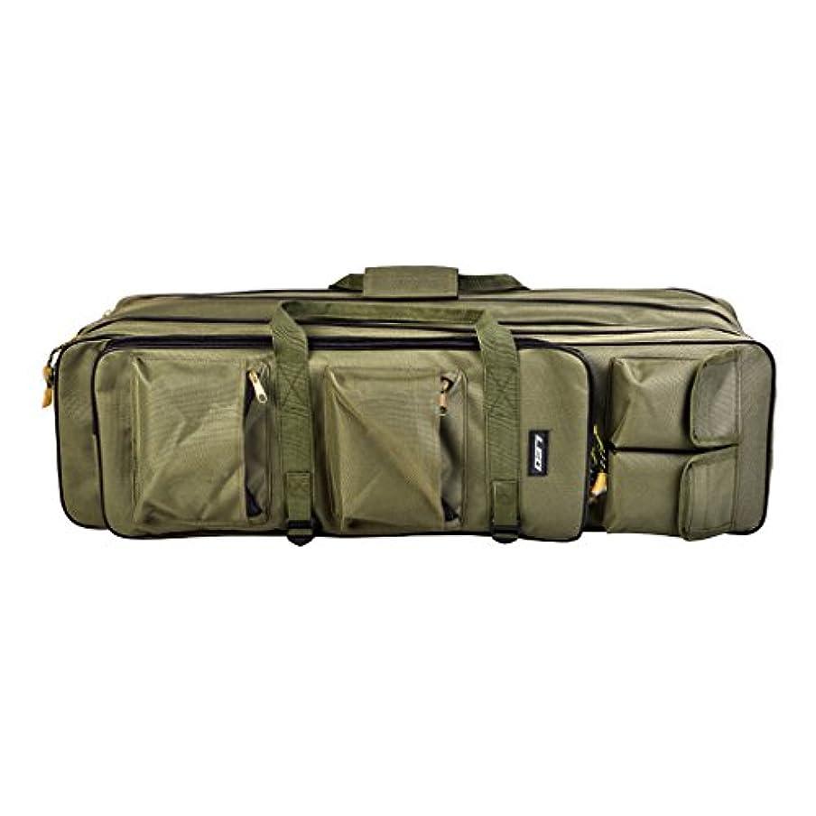スタジアム放送アッティカスFenteer 釣具バッグ 屋外 タックルバッグ ロッドバッグ 釣り袋 工具收納 3層 マルチポケット 防水 持ち運び 耐久性 3サイズ選べ