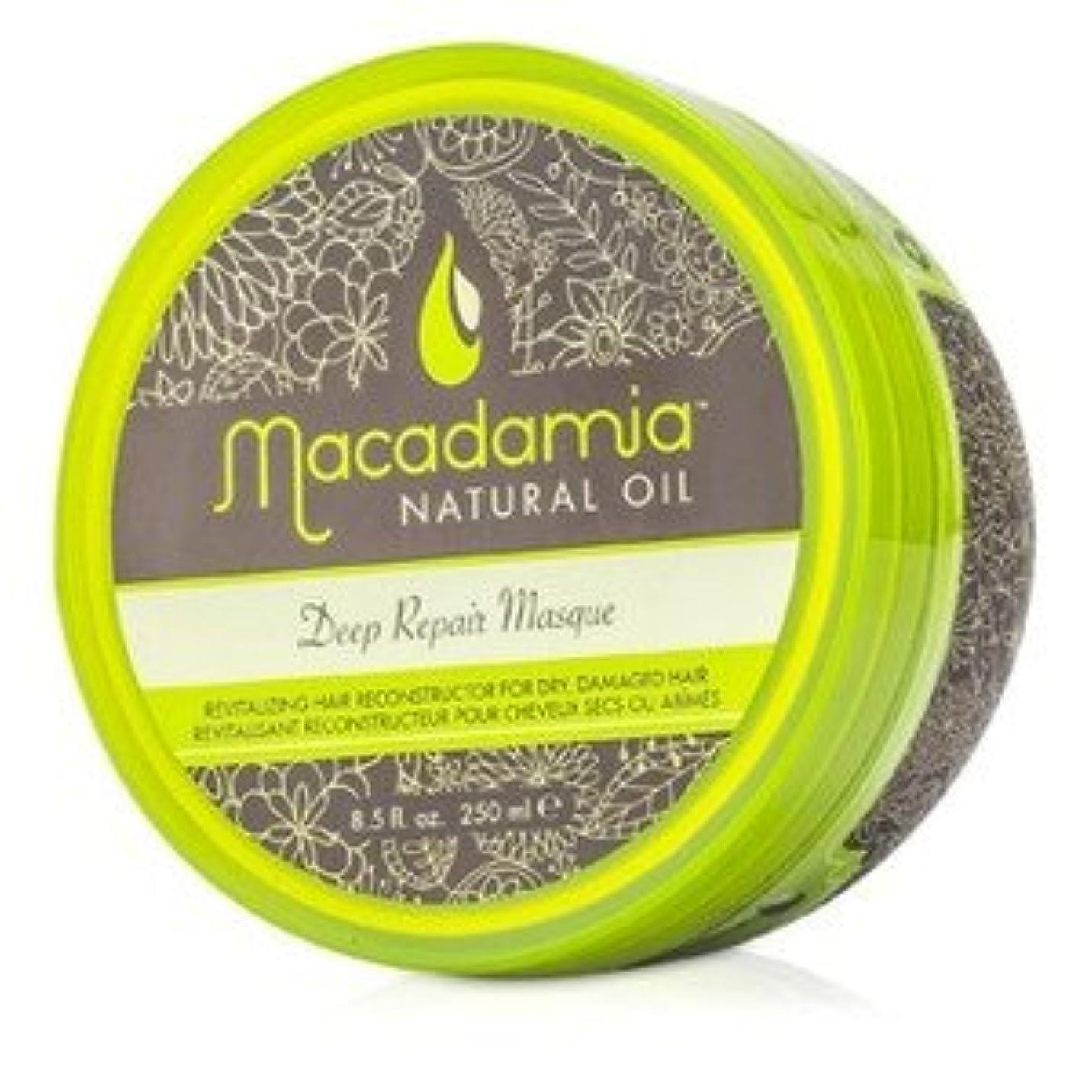 不良品線形道徳教育マカダミア ナチュラルオイル(Macadamia NATURAL OIL) ディープリペアマスク(ドライ、ダメージヘア) 250ml/8.5oz [並行輸入品]