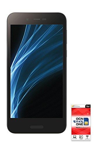 SHARP AQUOS sense lite SH-M05 【OCNモバイルONE SIMカード付】 (音声SIM, Black)[8,000円分キャッシュバック特典付]