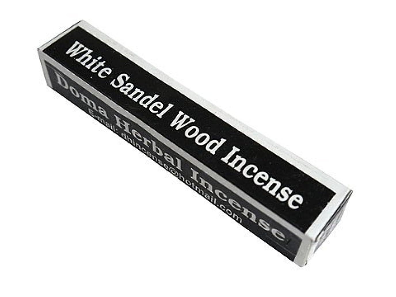 ブッシュ前方へ注文ドマハーバルインセンス Doma Herbal Incense【WhiteSandalWoodIncense ホワイトサンダルウッド】