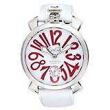 [ガガミラノ]GAGA MILANO 腕時計 ホワイト文字盤 裏蓋スケルトン スイス製 5010.14S-WHT メンズ 【並行輸入品】