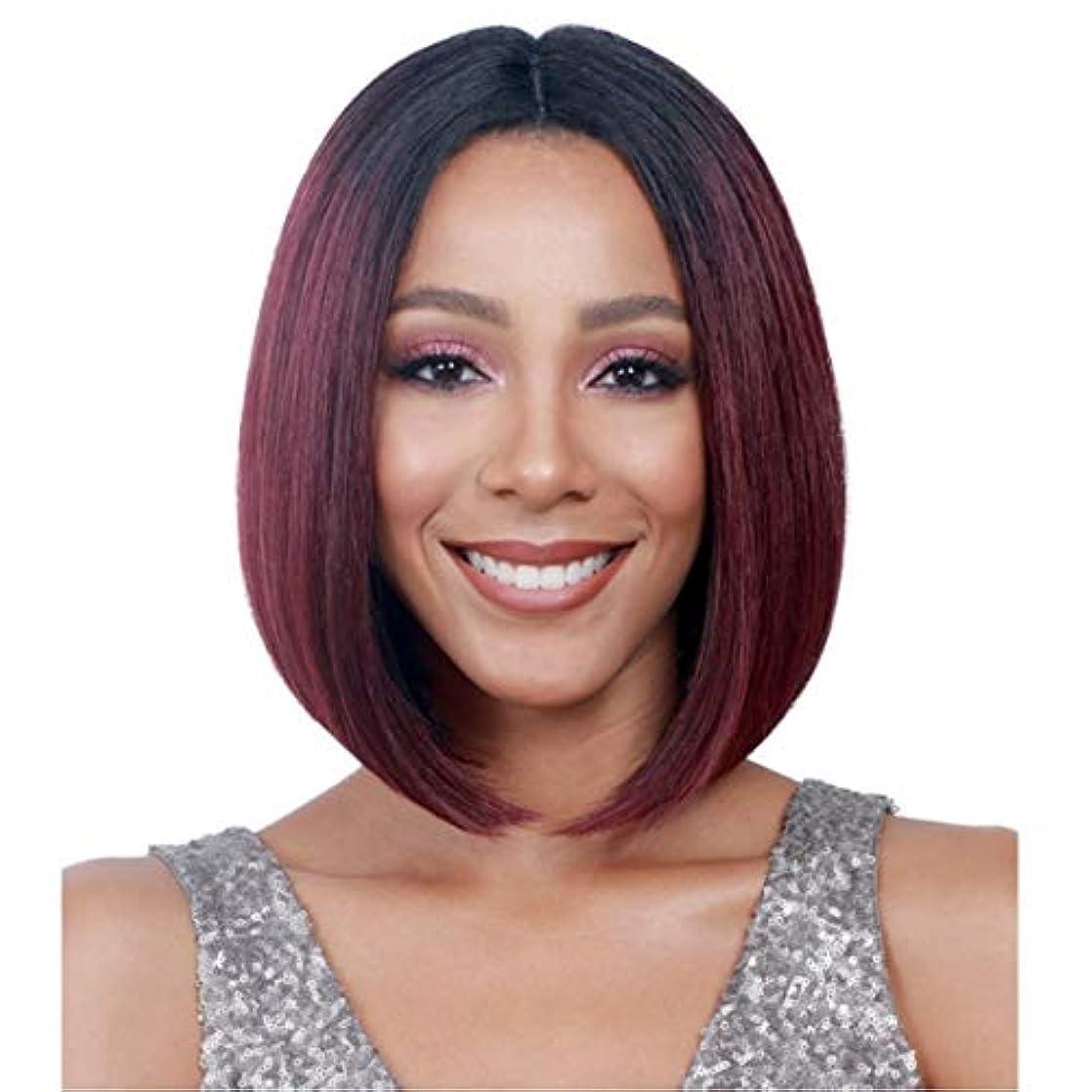 アレンジ酸素固有のKerwinner ボブウィッグショートストレート人工毛ナチュラルに見える女性用耐熱性