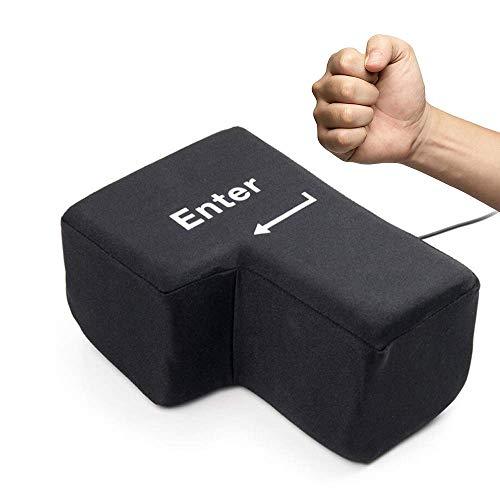ストレス解消 グッズ BIG ENTER 巨大 エンターキー 枕 パソコン PC BIG 約1700倍 USB おもしろグッズ 大きいクッション 贈り物 デカい枕 抱き枕 ストレス発散 誕生日プレゼント