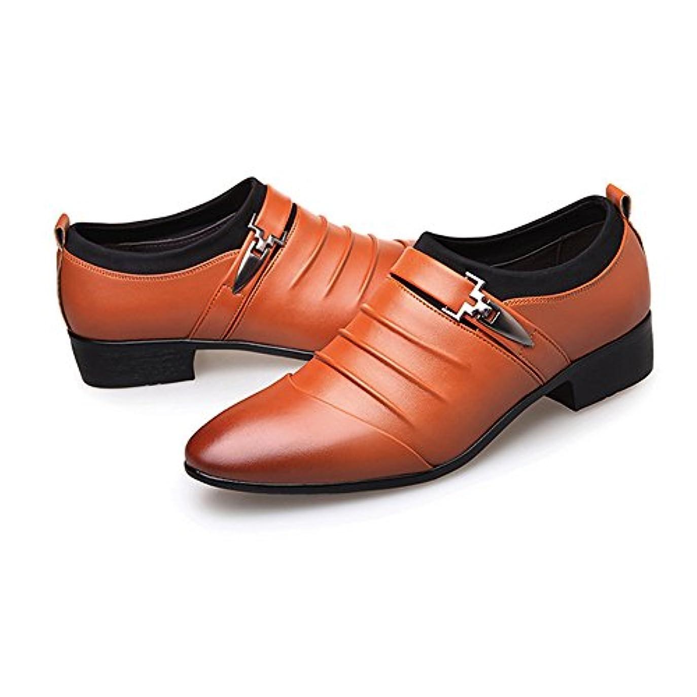 やがてフランクワースリー遠近法革靴 メンズ ビジネスシューズ スムースPUレザー スプライス スリッポン 通気のライニング  オックスフォードシューズ  紳士靴 カジュアル