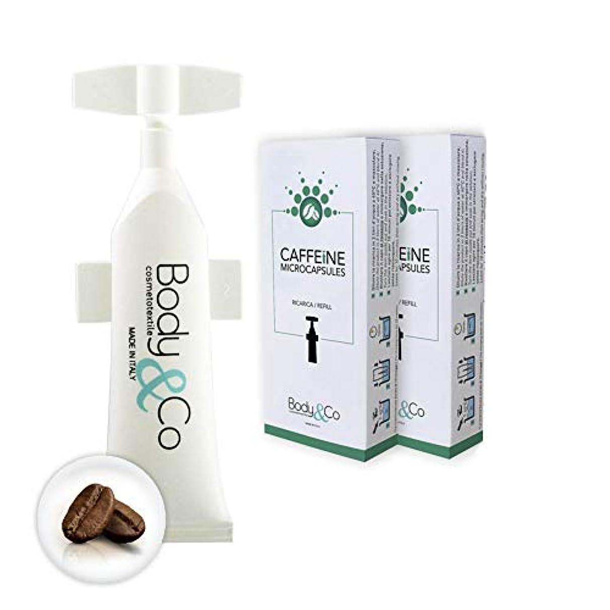 チーム退屈させるホイップBody&Co Cosmetic Refill 10 ml Caffeine (CAFFEINE 10 ML, 2 REFILLS 10 ML)