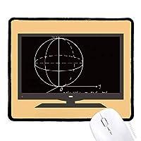 数学の知識の球の方程式 マウスパッド・ノンスリップゴムパッドのゲーム事務所