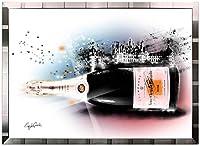 アートショップ フォームス ブランドオマージュアート/クレイグ・ガルシア「ヴーヴ・クリコ/シャンボール城b」ポスター (シルバー)