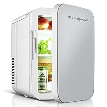 VOKUA 冷温庫 ミニ冷蔵庫 10L 小型でポータブル 家庭 車載両用 保温 保冷 2電源式 便利な携帯式 コンパクト 小型冷蔵庫 日本語説明書 1年保証付き