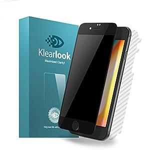 KlearLook Iphone 8 plus/Iphone 7 plus用 プライバシー防止系列 ケースに対応 強化ガラス液晶全面保護フィルム 覗き見防止 厚さ0.33mm 硬度9H 2.5Dラウンドエッジ加工 指紋防止 全面フルカバー(覗き見防止強化ガラス液晶面1枚+背面1枚 ) (Iphone 8 plus/7 plus, ブラック)